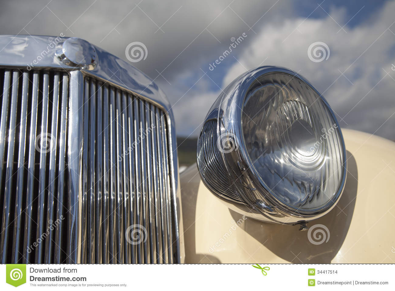 Old Car Headlights : Vintage car headlights stock photo image of fashioned