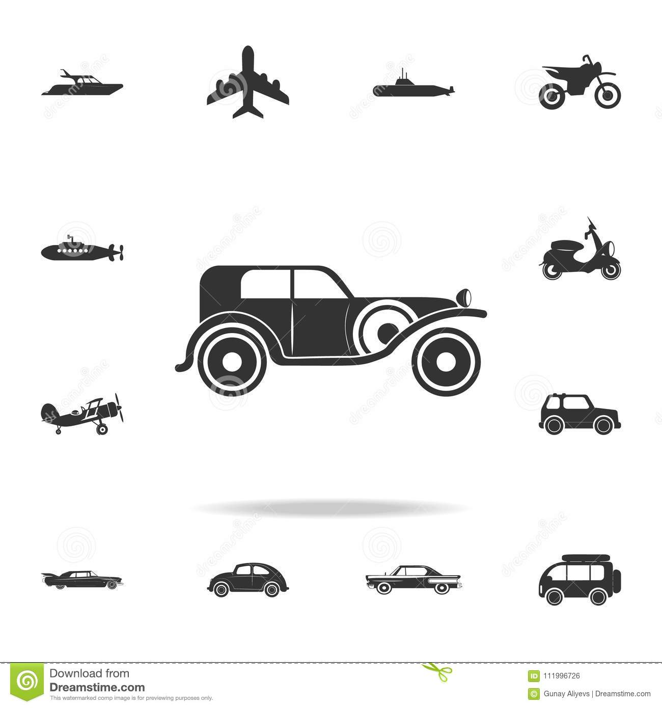 Vintage Car Icon. Detailed Set Of Transport Icons. Premium Quality ...