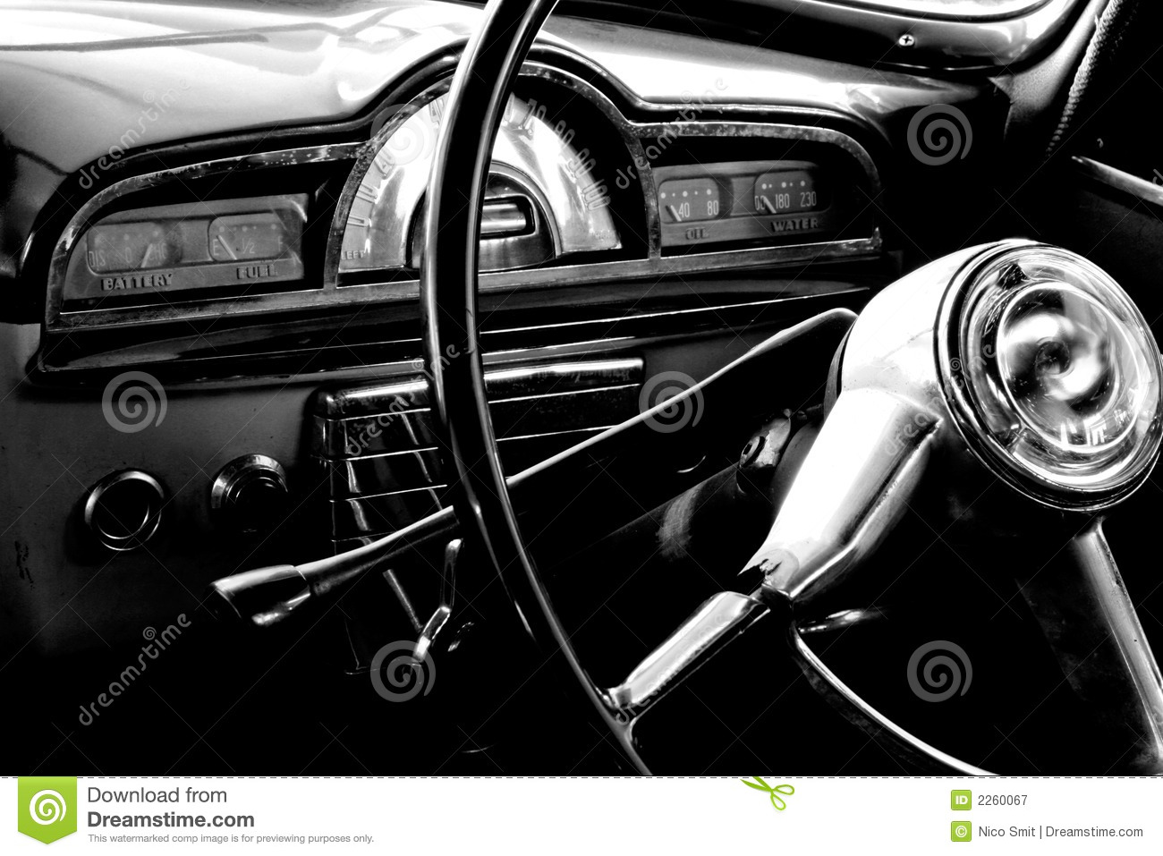vintage car interior stock image image of vintage machine 2260067. Black Bedroom Furniture Sets. Home Design Ideas