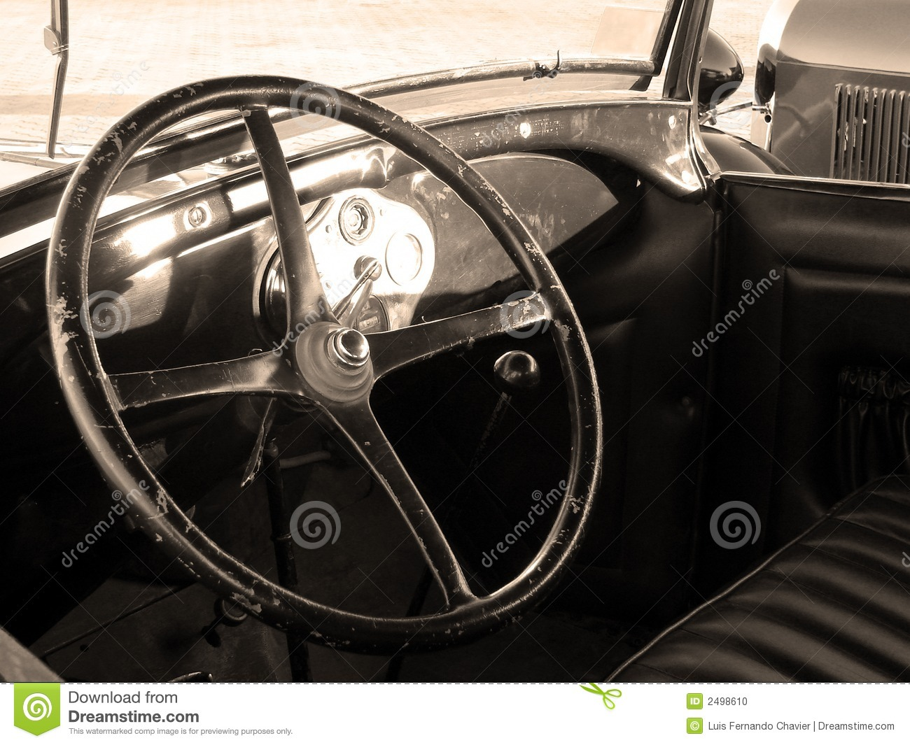 vintage car interior stock photo image 2498610. Black Bedroom Furniture Sets. Home Design Ideas