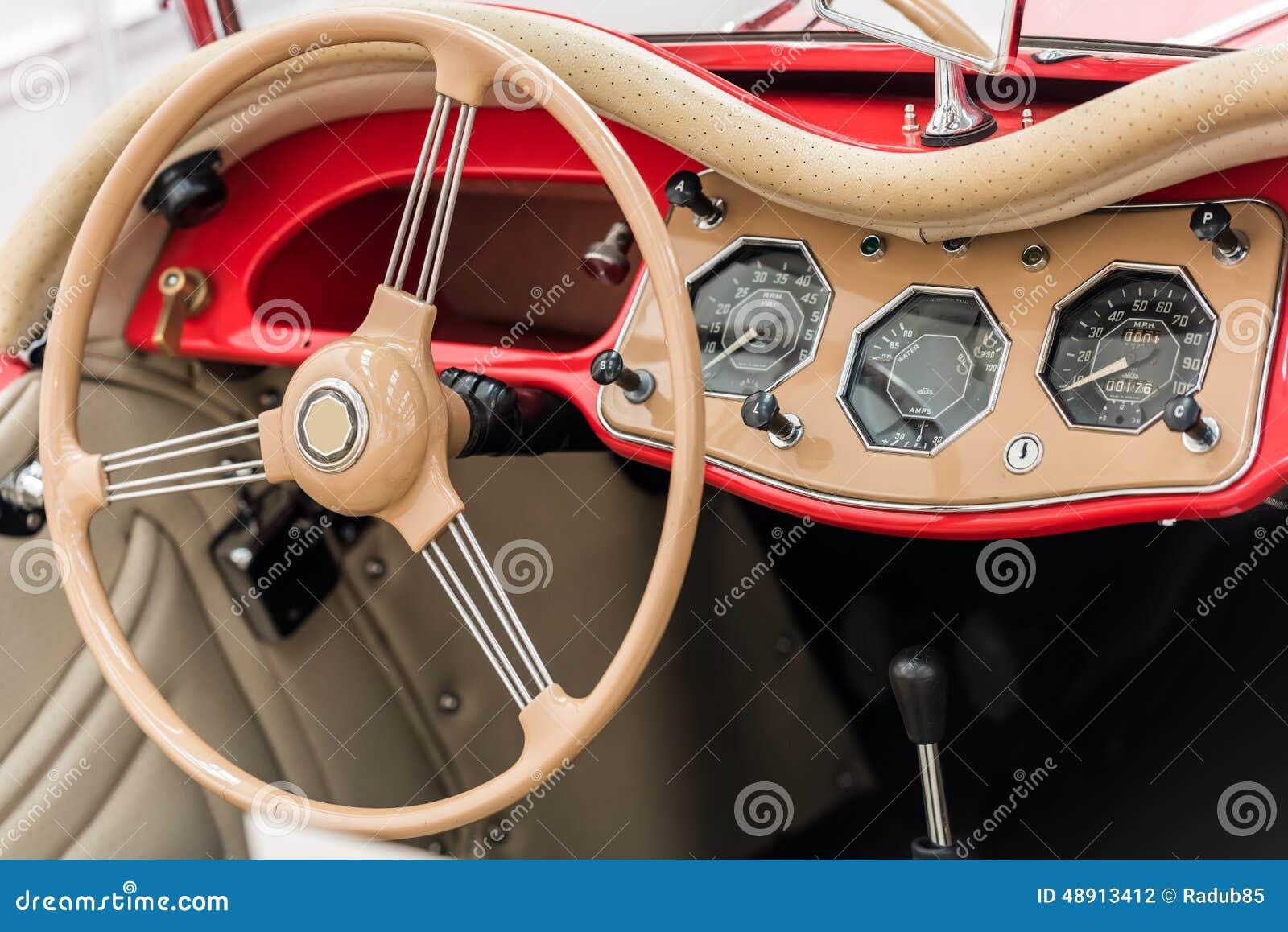 vintage car interior stock photo image 48913412. Black Bedroom Furniture Sets. Home Design Ideas