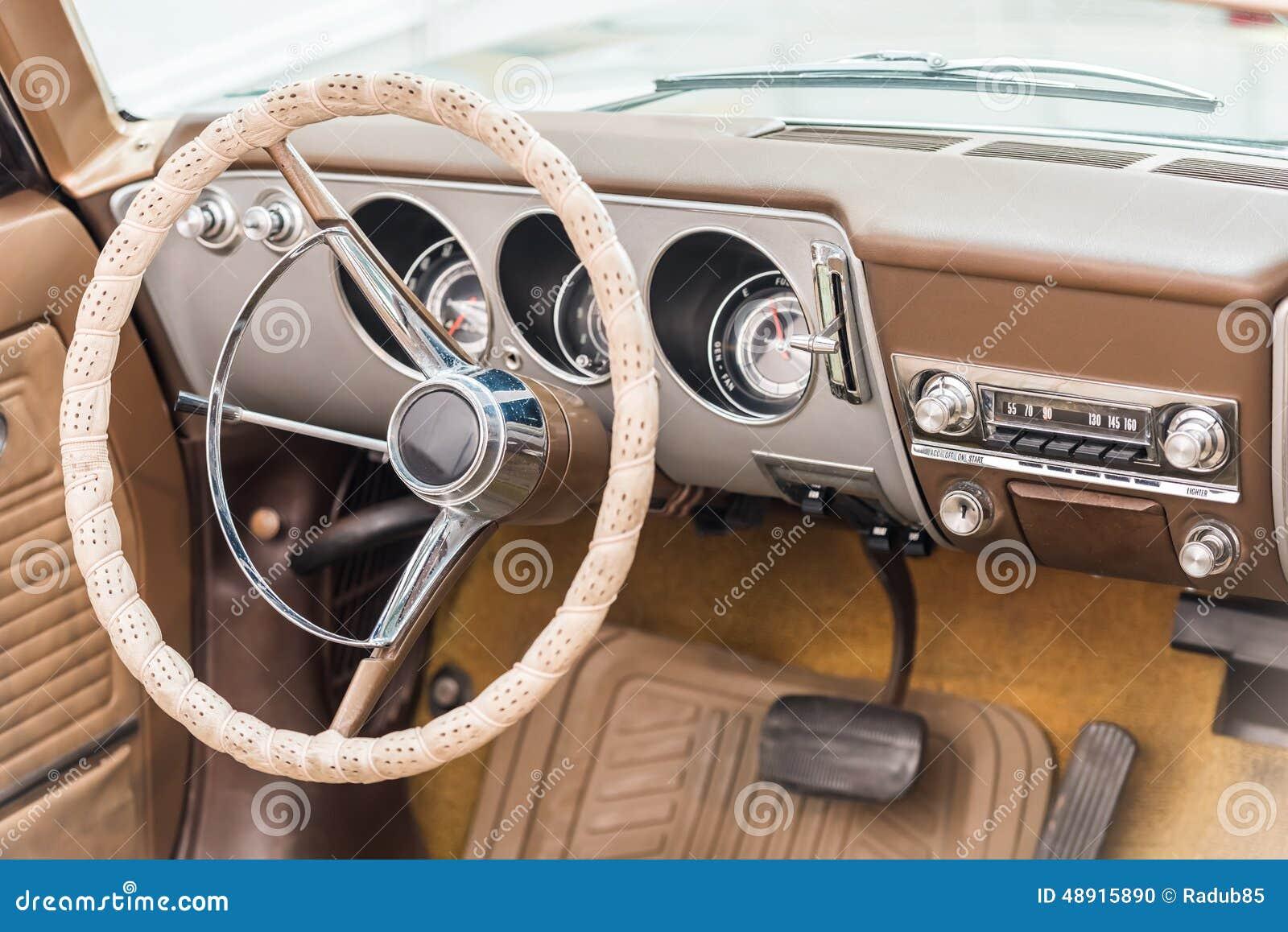 Vintage Car Interior Stock Photo Image Of Nostalgia 48915890