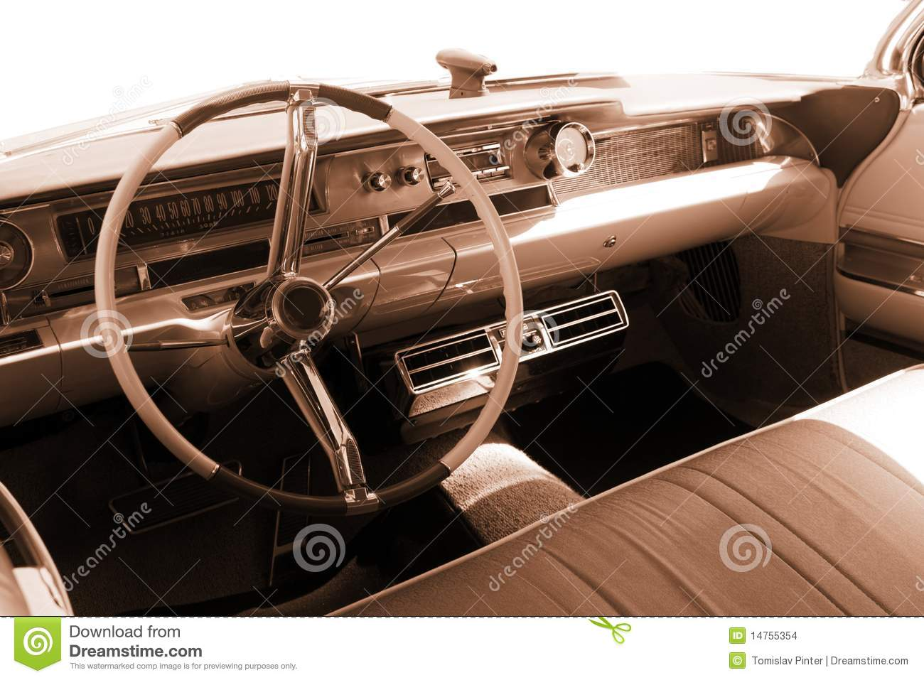 vintage car interior sepia stock photo image 14755354. Black Bedroom Furniture Sets. Home Design Ideas