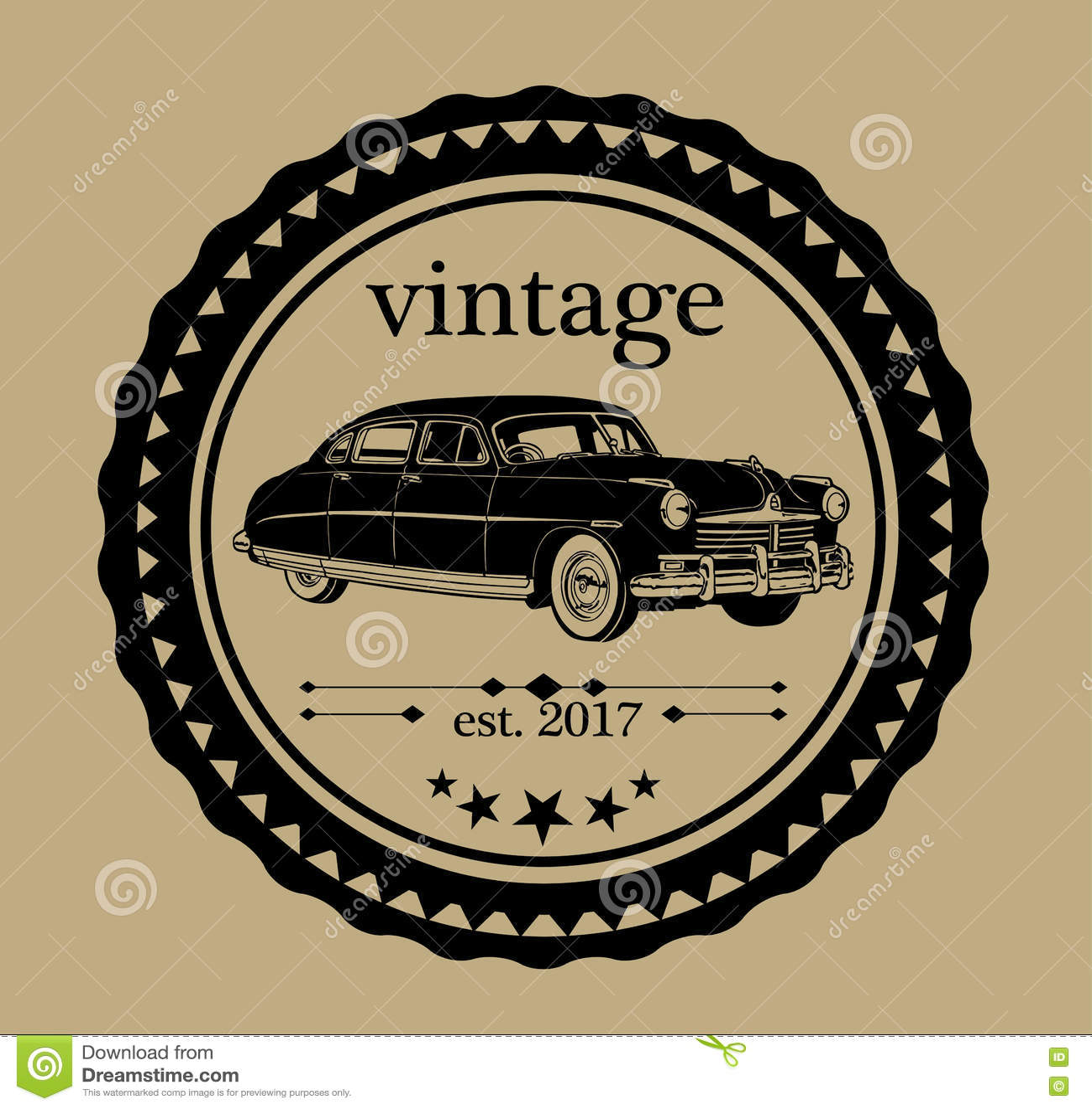 Vintage Car Logo Stock Vector Illustration Of Drive 77276876