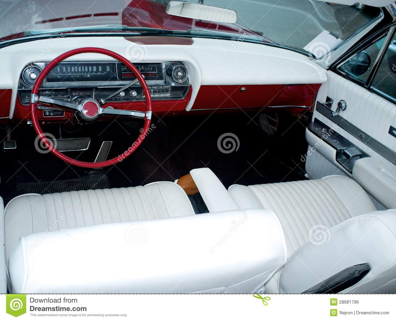 vintage car luxury interior royalty free stock image image 28681796. Black Bedroom Furniture Sets. Home Design Ideas