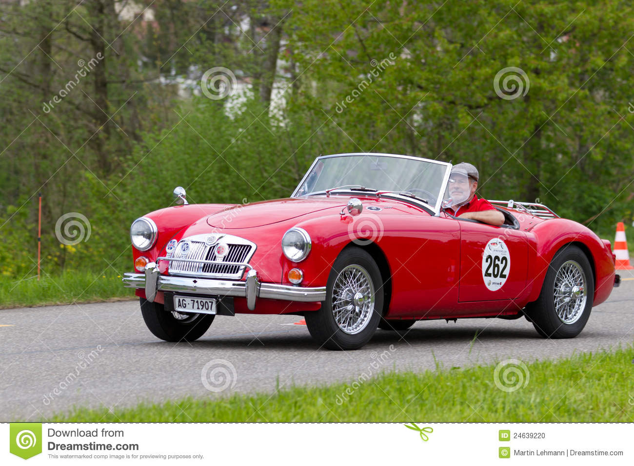 Vintage Car Mg Mga 1600 From 1959 Editorial Image Image
