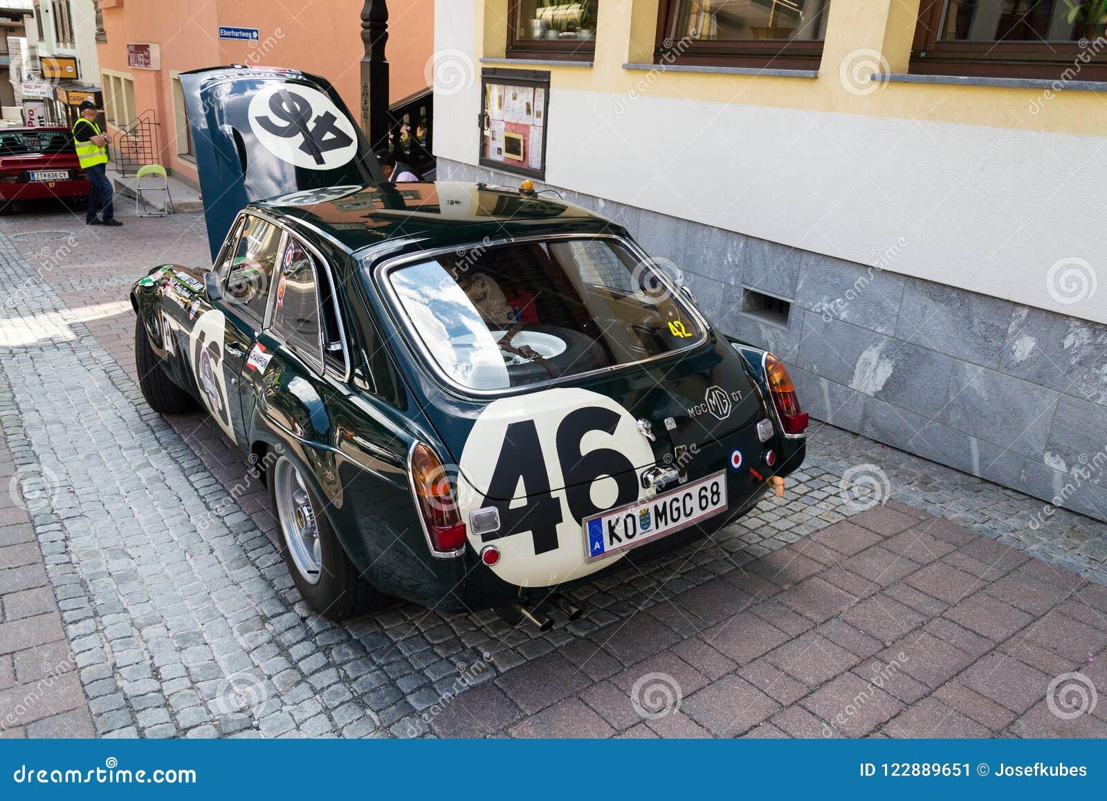 Vintage Car MG MGC GT Coupe Oldsmobile Veteran Editorial