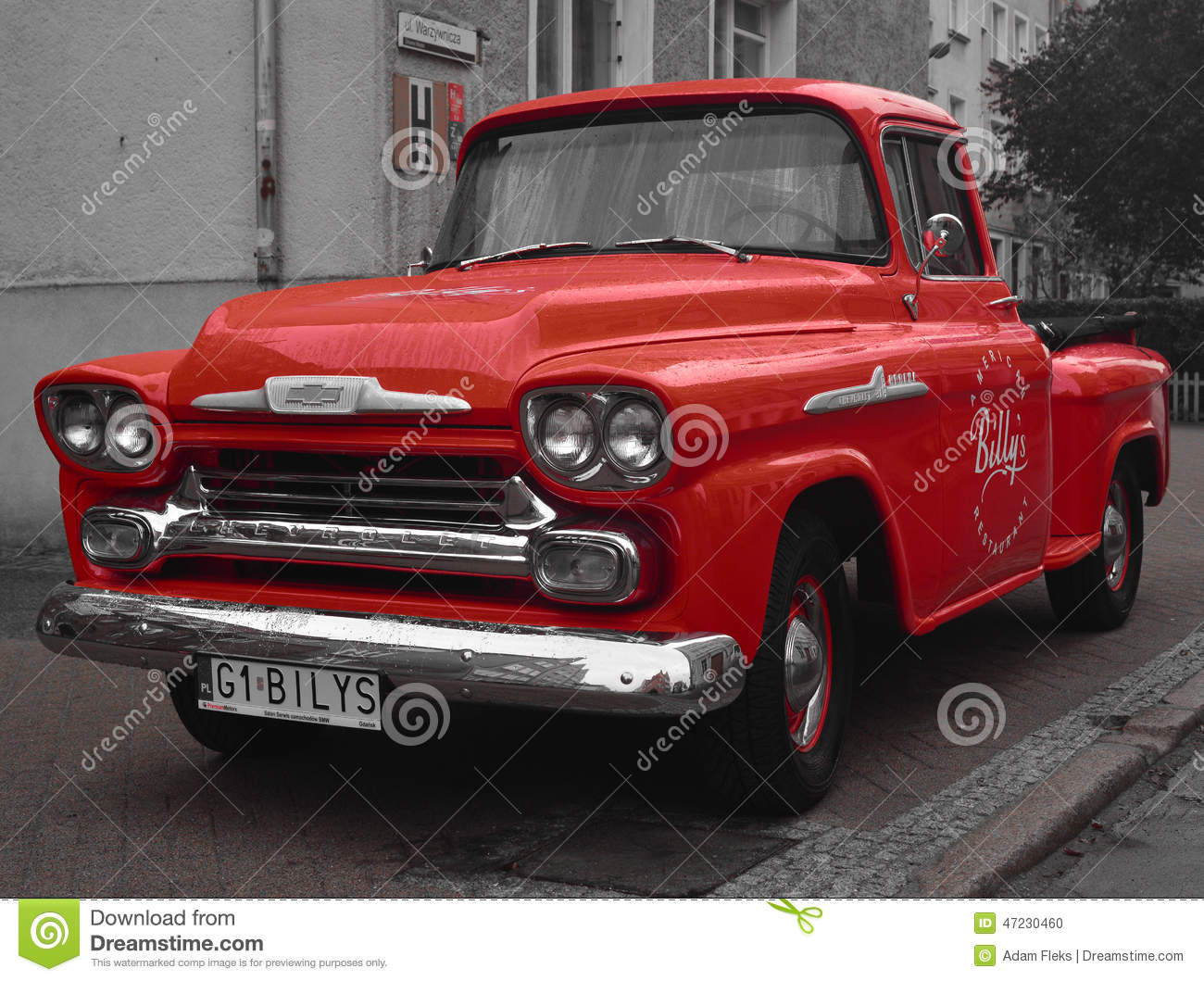 Classic American Vintage Pick-up Car Editorial Image - Image of ...