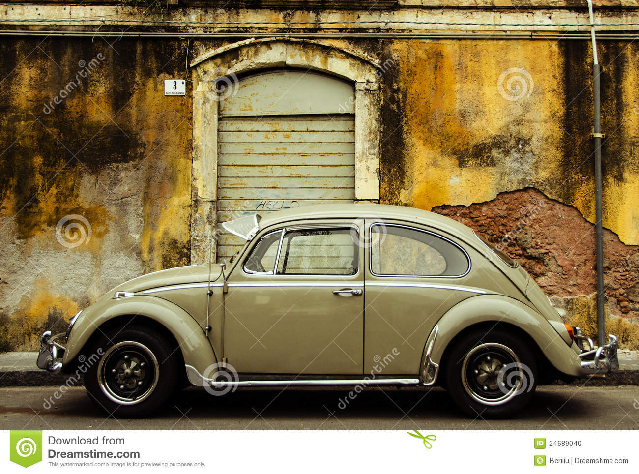 Vintage car on old street stock photo image of worn for Wall street motor cars