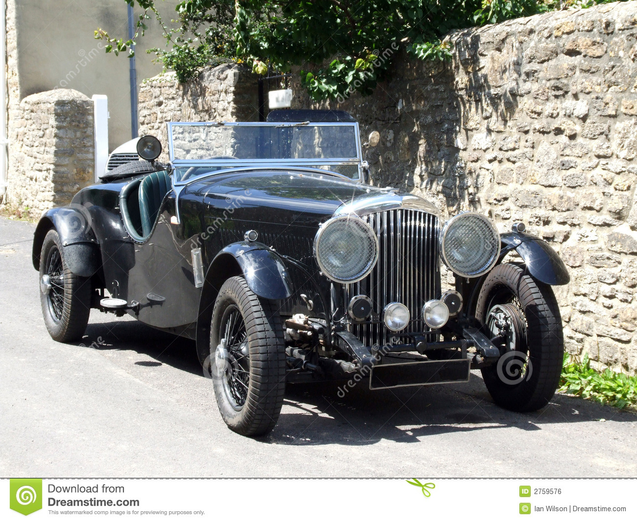 Vintage Car (Open Top) stock photo. Image of style, vehicle - 2759576