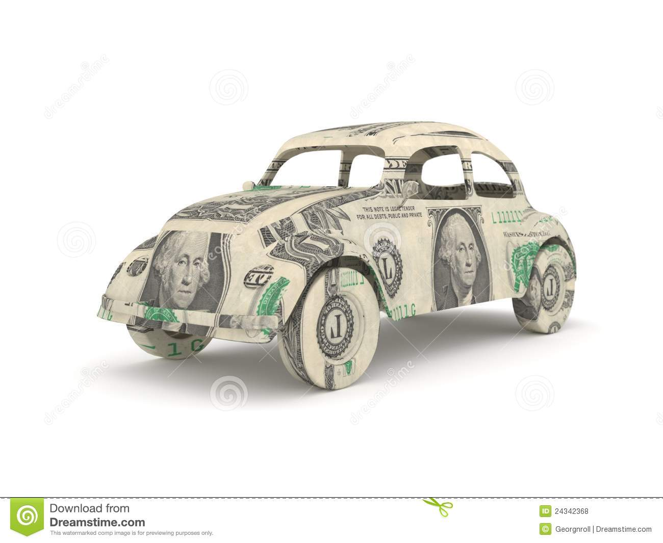 Vintage Car Origami Made From Dollar Bills Royalty Free ... - photo#49