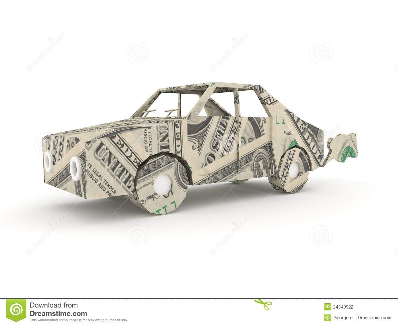 Vintage Car Origami Made From Dollar Bills Stock ... - photo#29