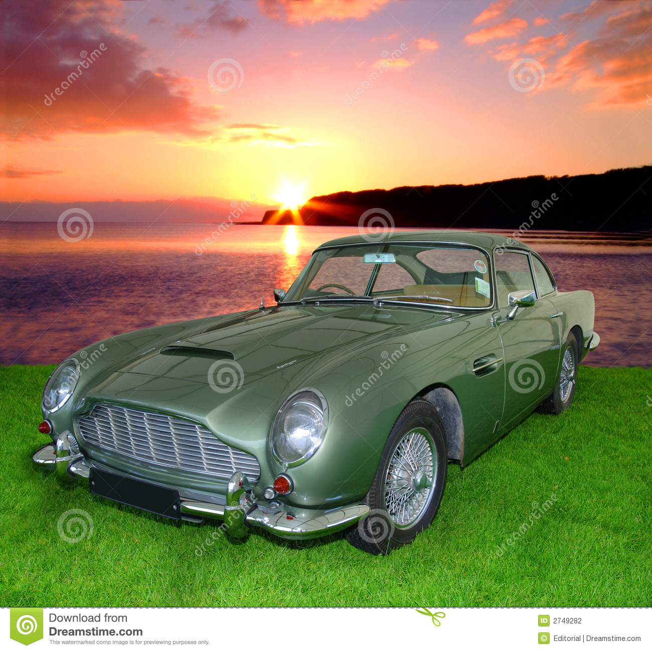 Stock Photography: Vintage Car At Sunset. Image: 2749282