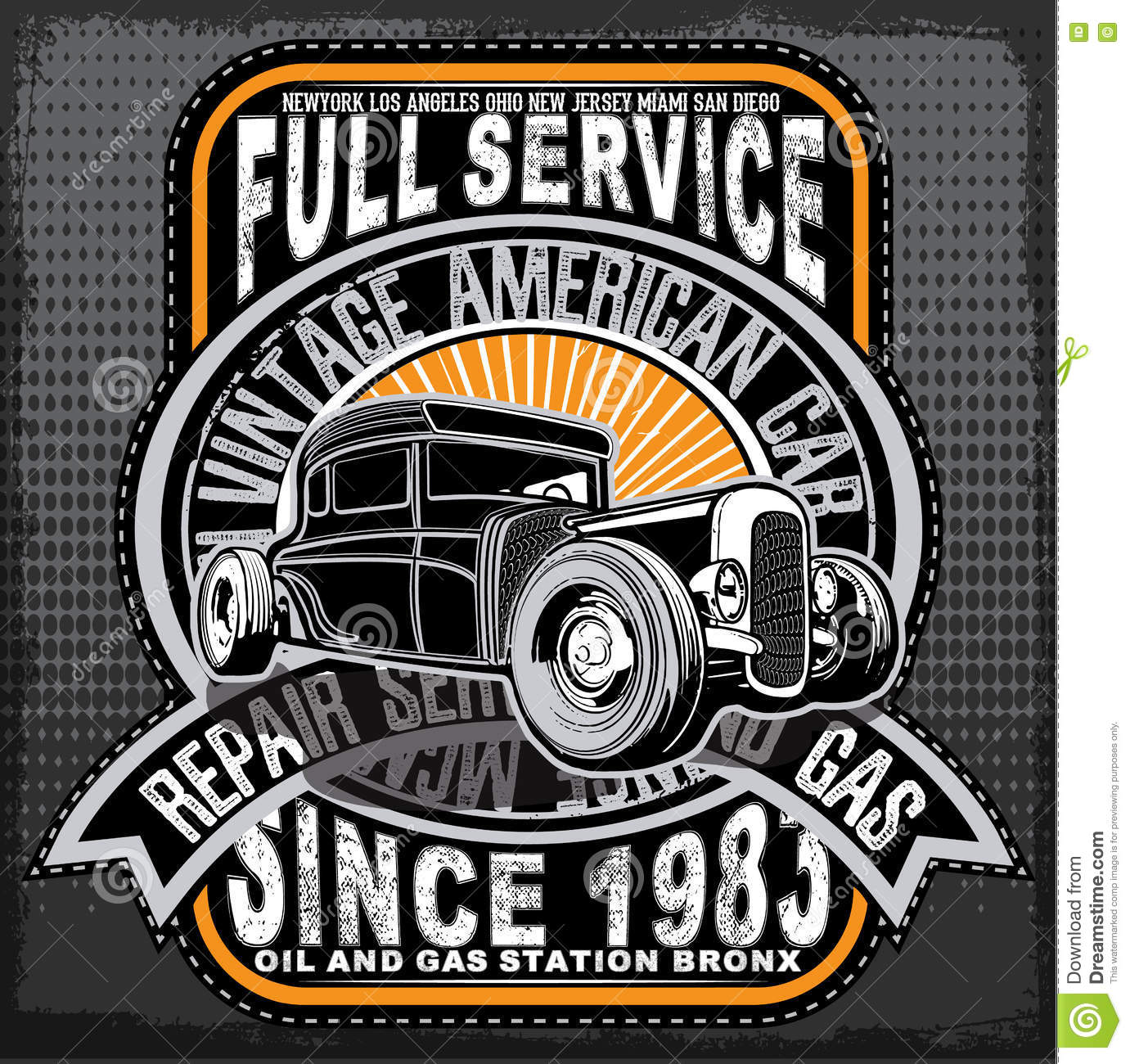Vintage Car Tee Graphic Design Stock Vector Image 72221397