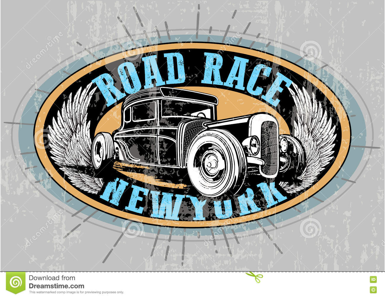 Vintage Car Tee Graphic Design Stock Vector Image 72828762