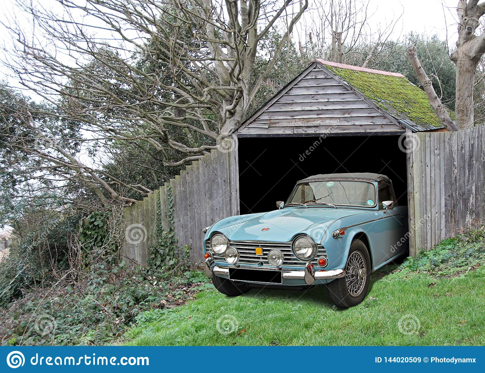 Vintage Car Triumph Tr4 Found In Derelict Abandoned Shed