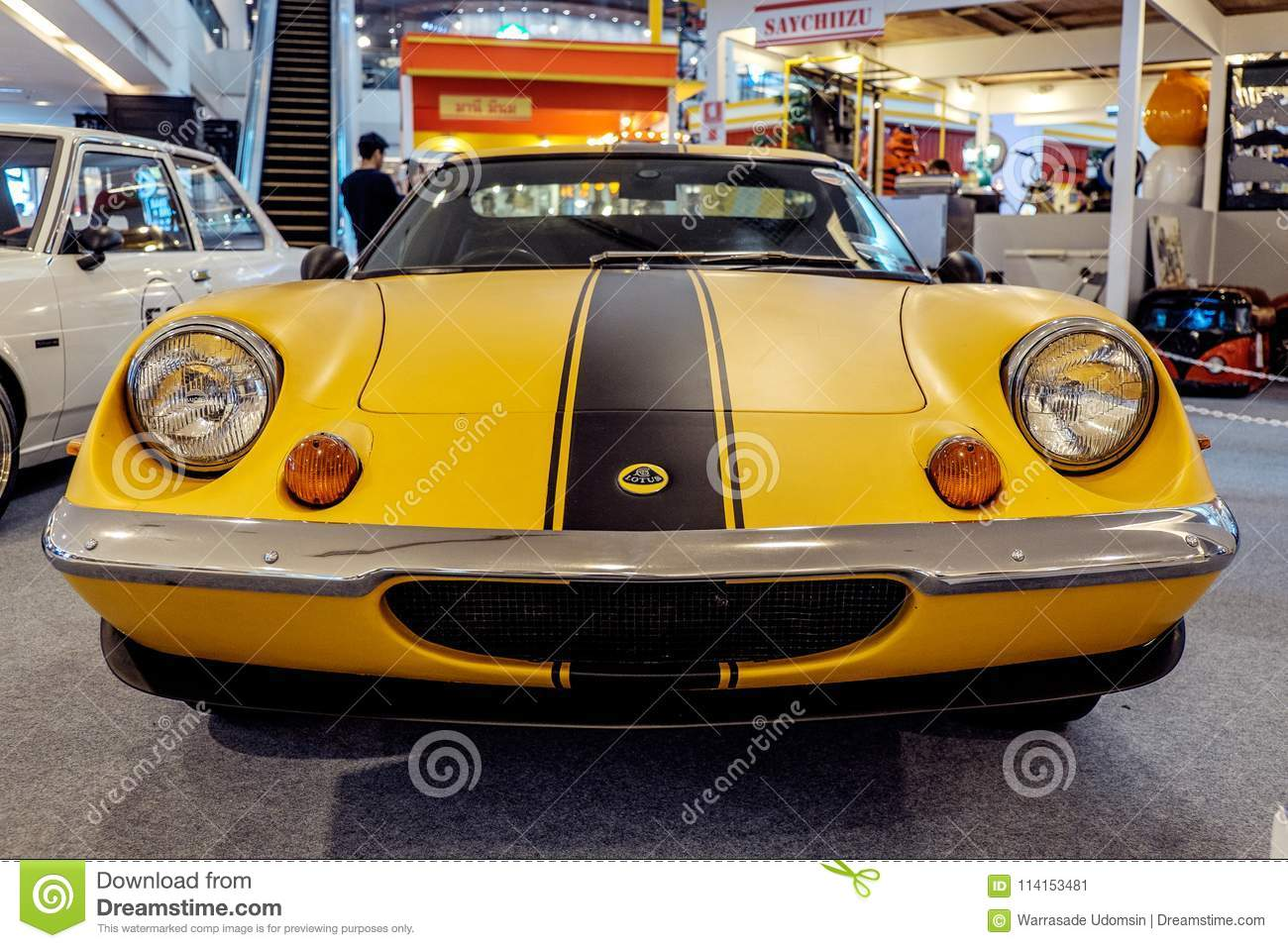 Vintage Car Which Was Lotus Europa Twin Cam Special Shown In An Exhibition