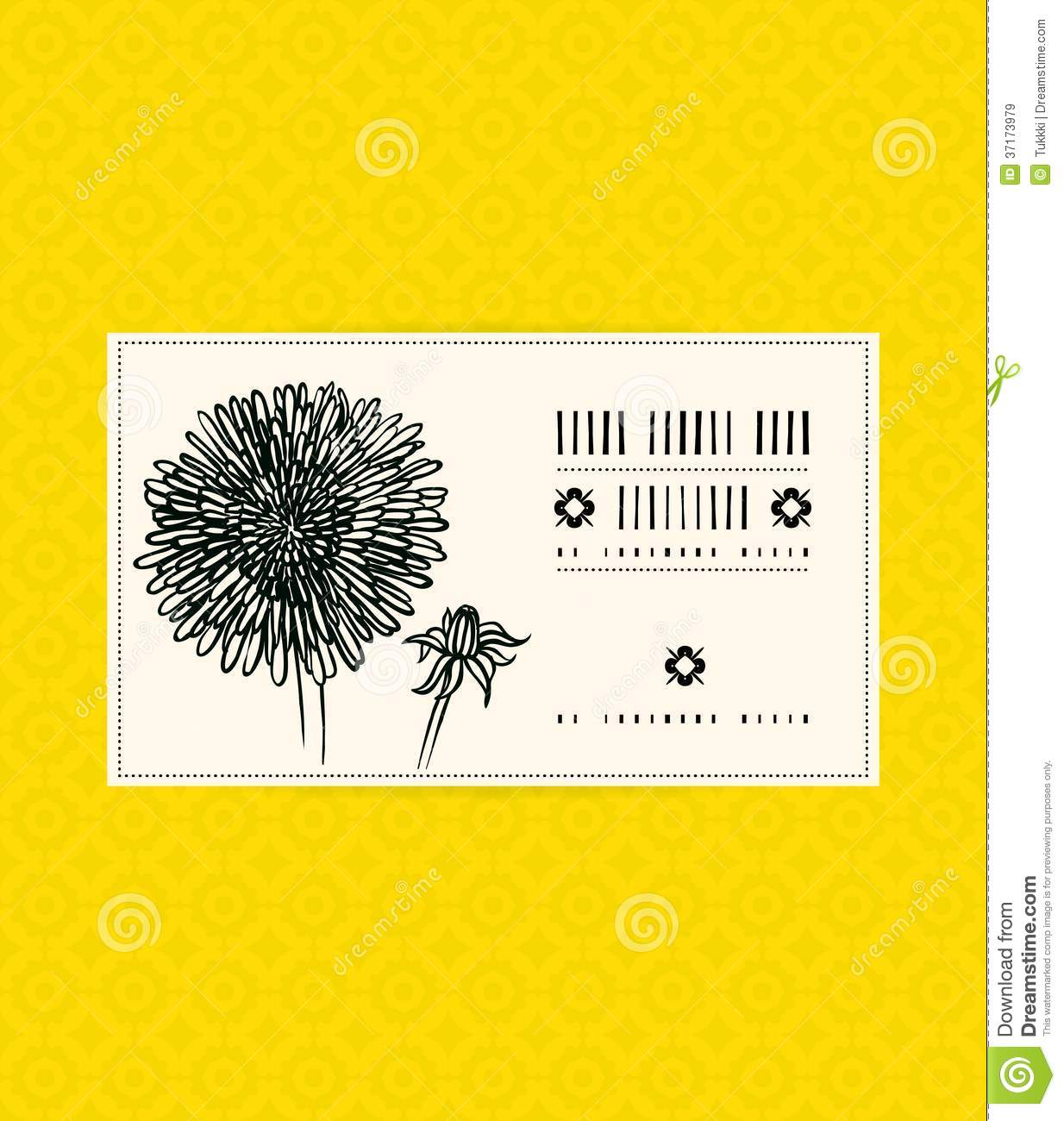 Vintage Card With Aster Flower Stock Vector