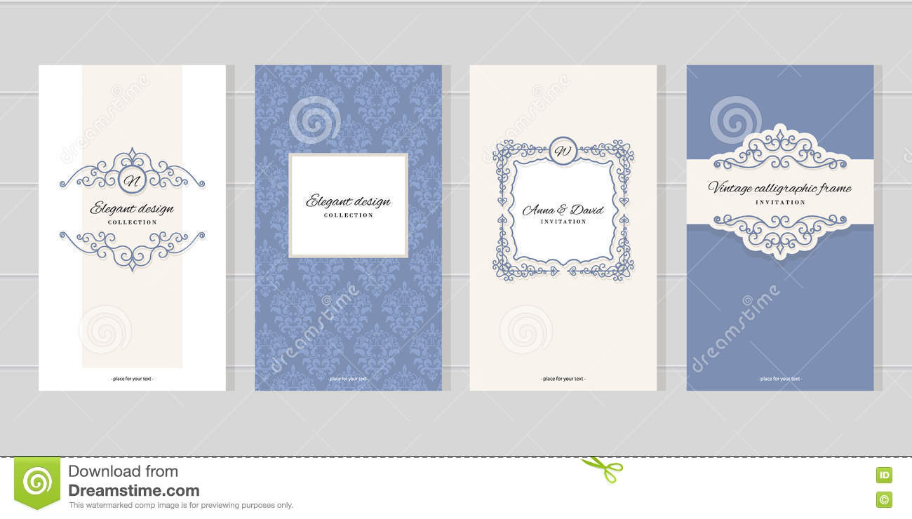 Vintage card templates for wedding invitations beauty industry vintage card templates for wedding invitations beauty industry brochures design kristyandbryce Images