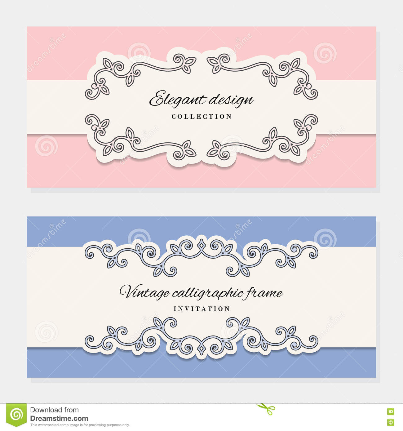 picture relating to Paper Cutout Templates named Classic Card Templates. For Marriage Invites, Classy