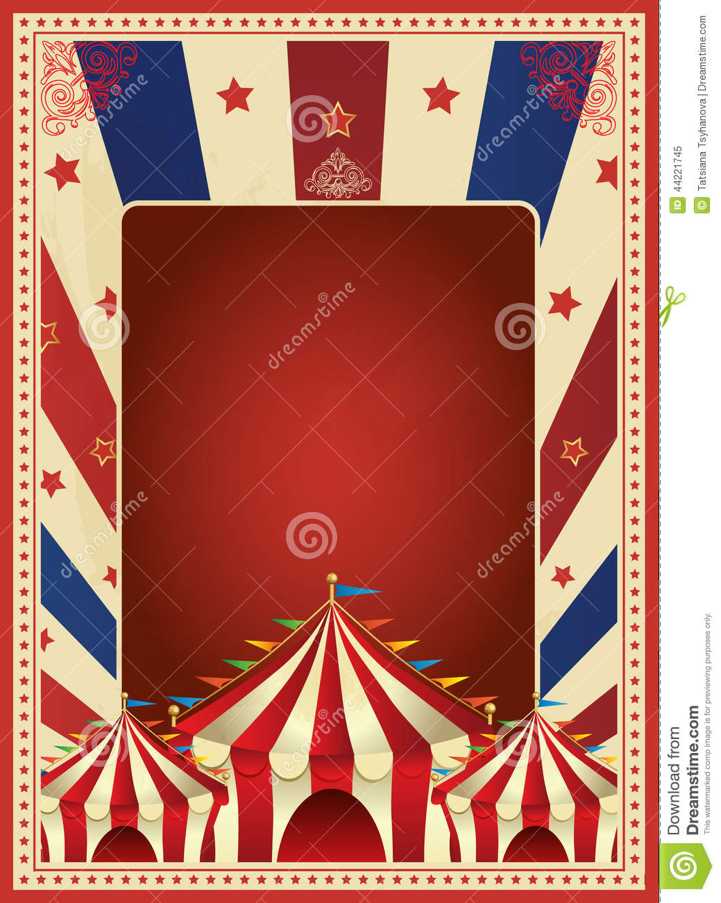 vintage carnival poster template vector mardi gras circus