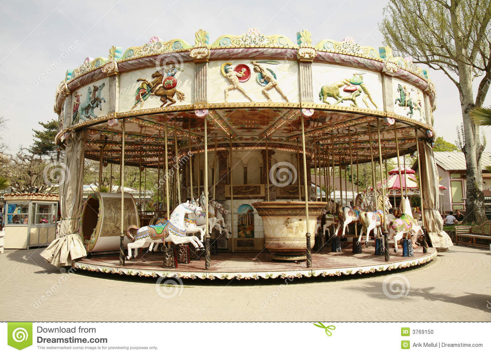 Vintage Carousel Ride Stock Photo - Image: 3769150