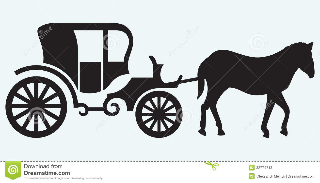 Old fashioned horse and cart 24