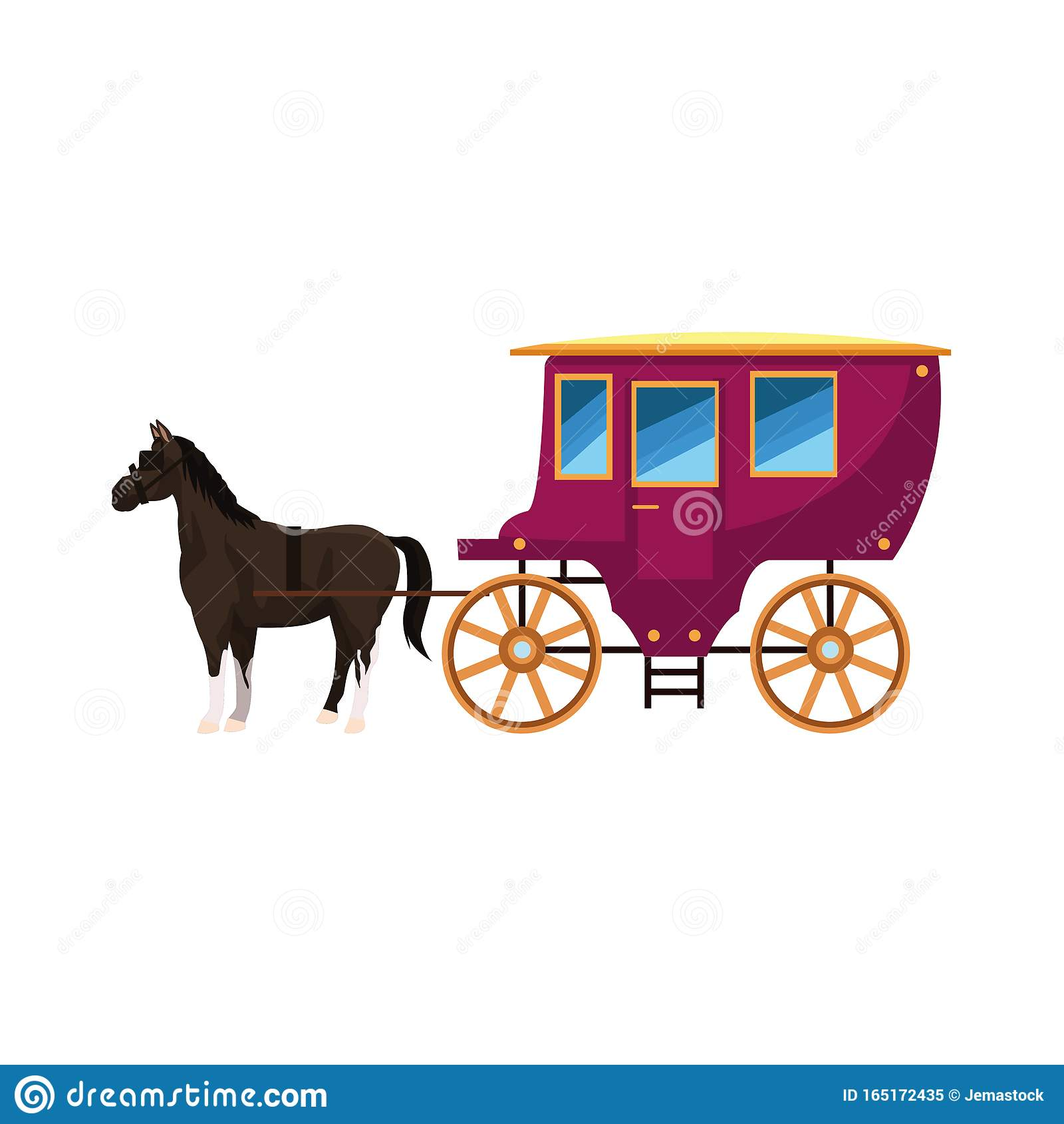 Carriage Horse Vector Stock Illustrations 2 978 Carriage Horse Vector Stock Illustrations Vectors Clipart Dreamstime