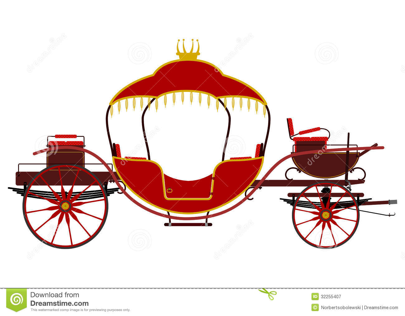Royal carriage in silhouette royalty free stock vector art - Vintage Carriage Royalty Free Stock Photography Image