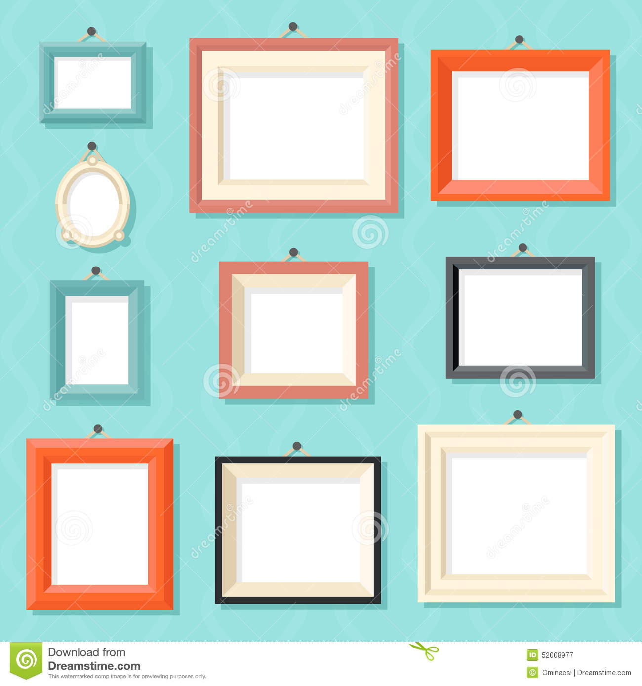 vintage cartoon photo picture painting drawing stock vector image 52008977. Black Bedroom Furniture Sets. Home Design Ideas