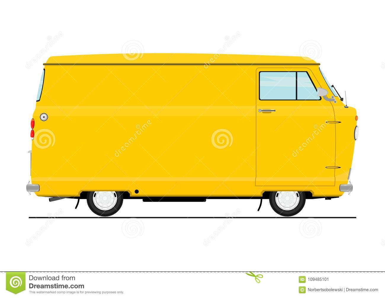 Vintage cartoon van