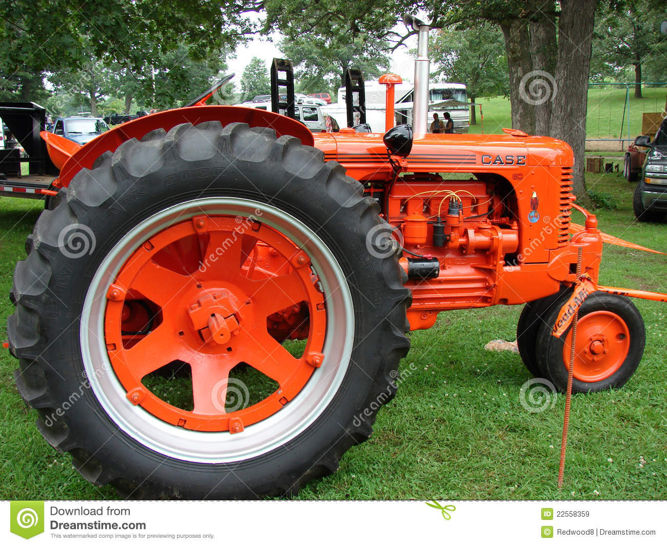 Old Case Tractor : Vintage case tractor editorial stock image of
