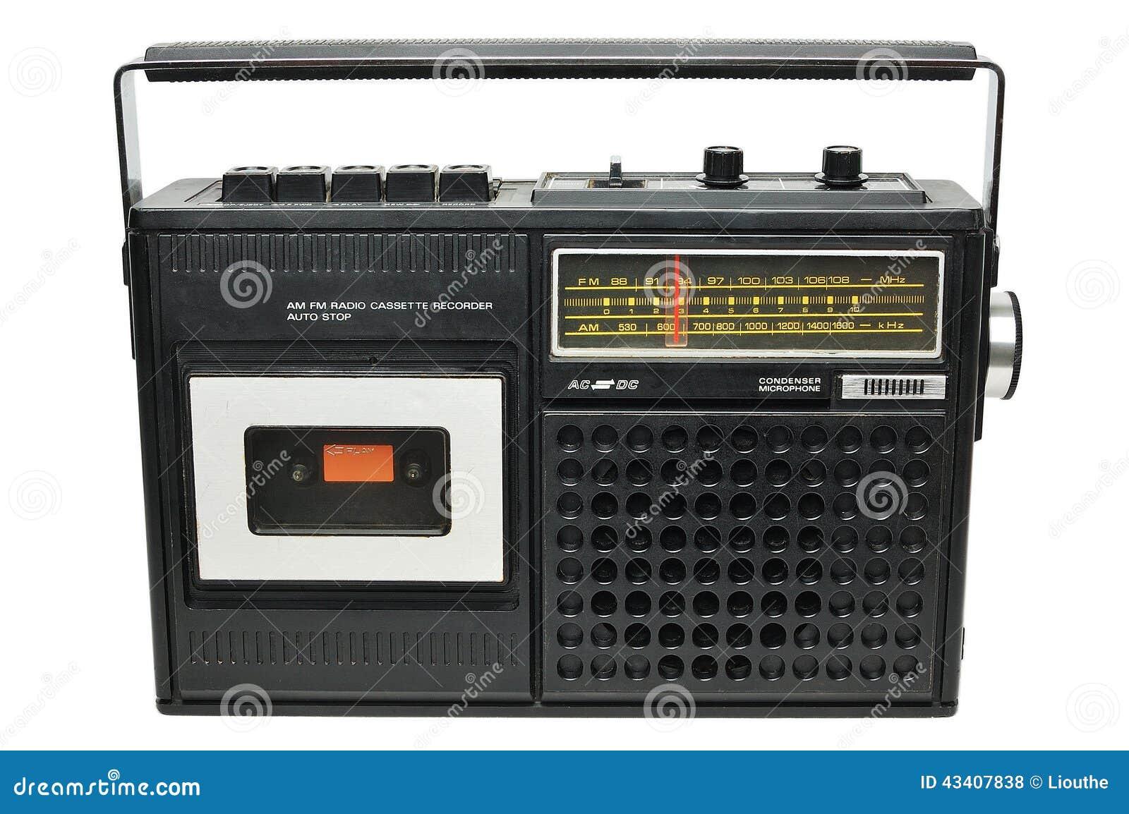 Retro Radio Cassette Player Stock Image