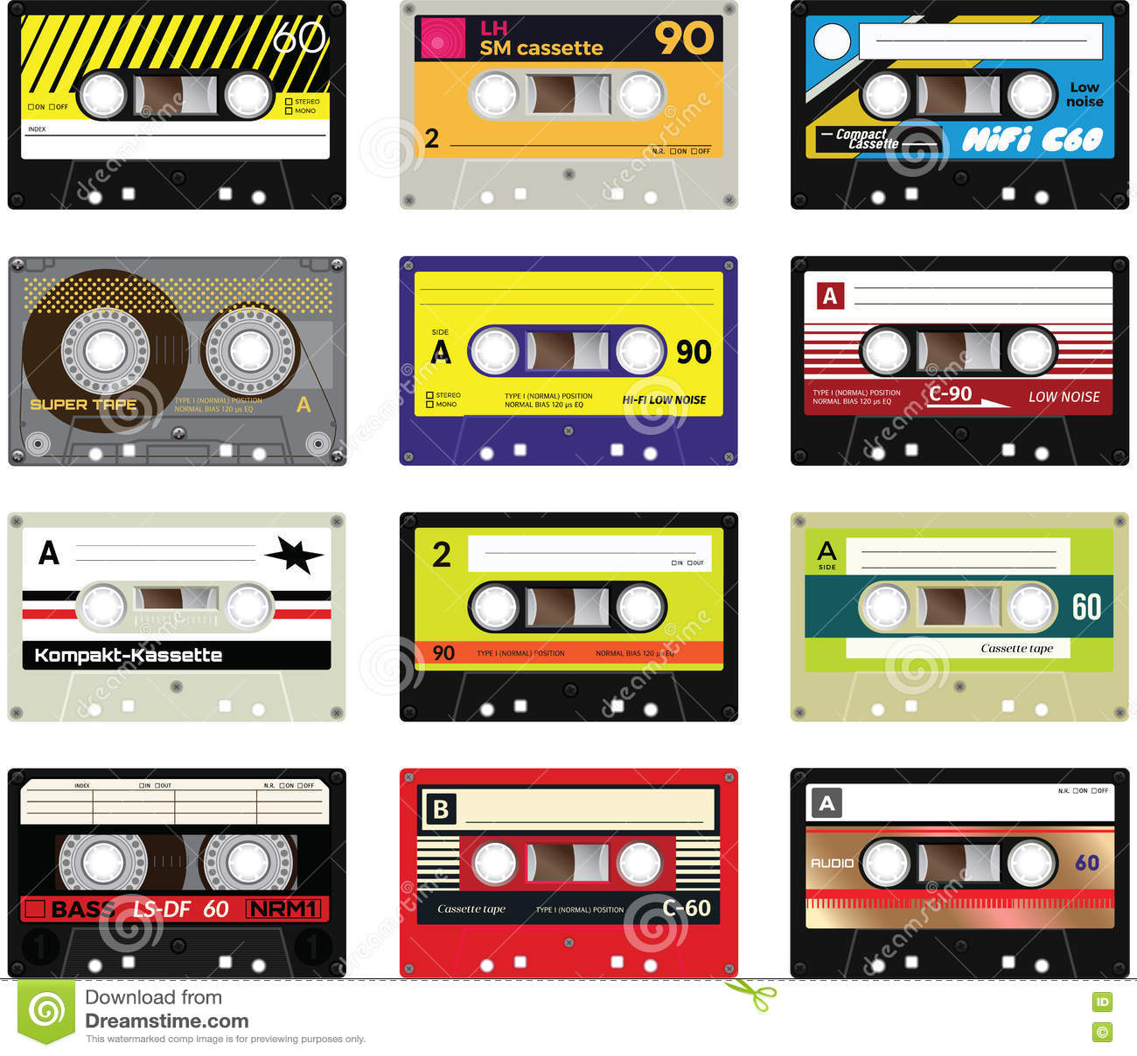You let vintage cassette tapes lady,but