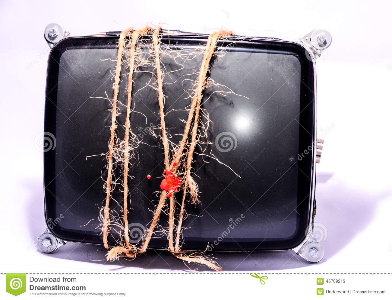Vintage Cathode Ray Tube Crt Stock Image Of Screen