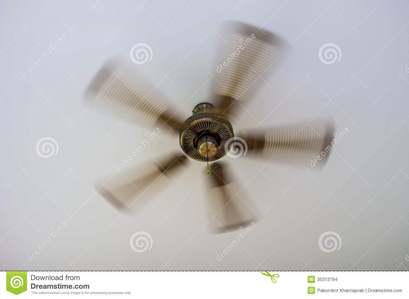 Vintage Ceiling Fan Stock Images