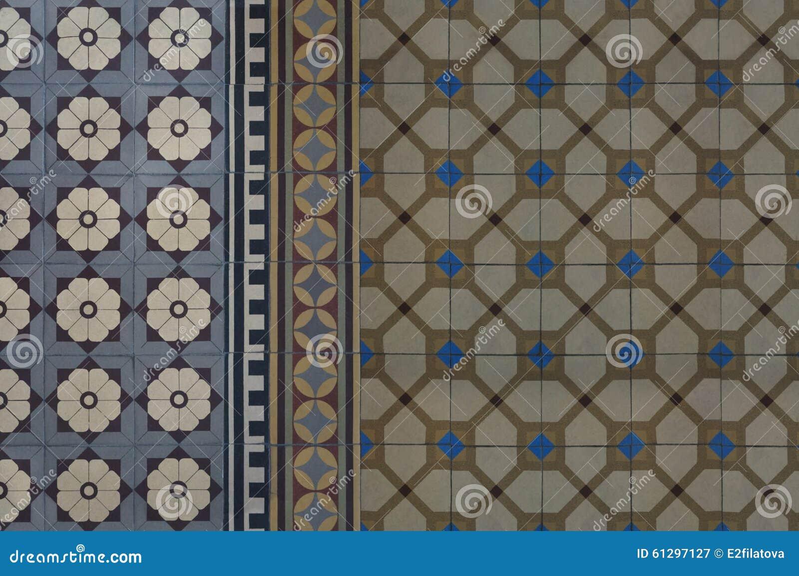 Vintage Ceramic Floor Tile Stock Image Image Of Tile