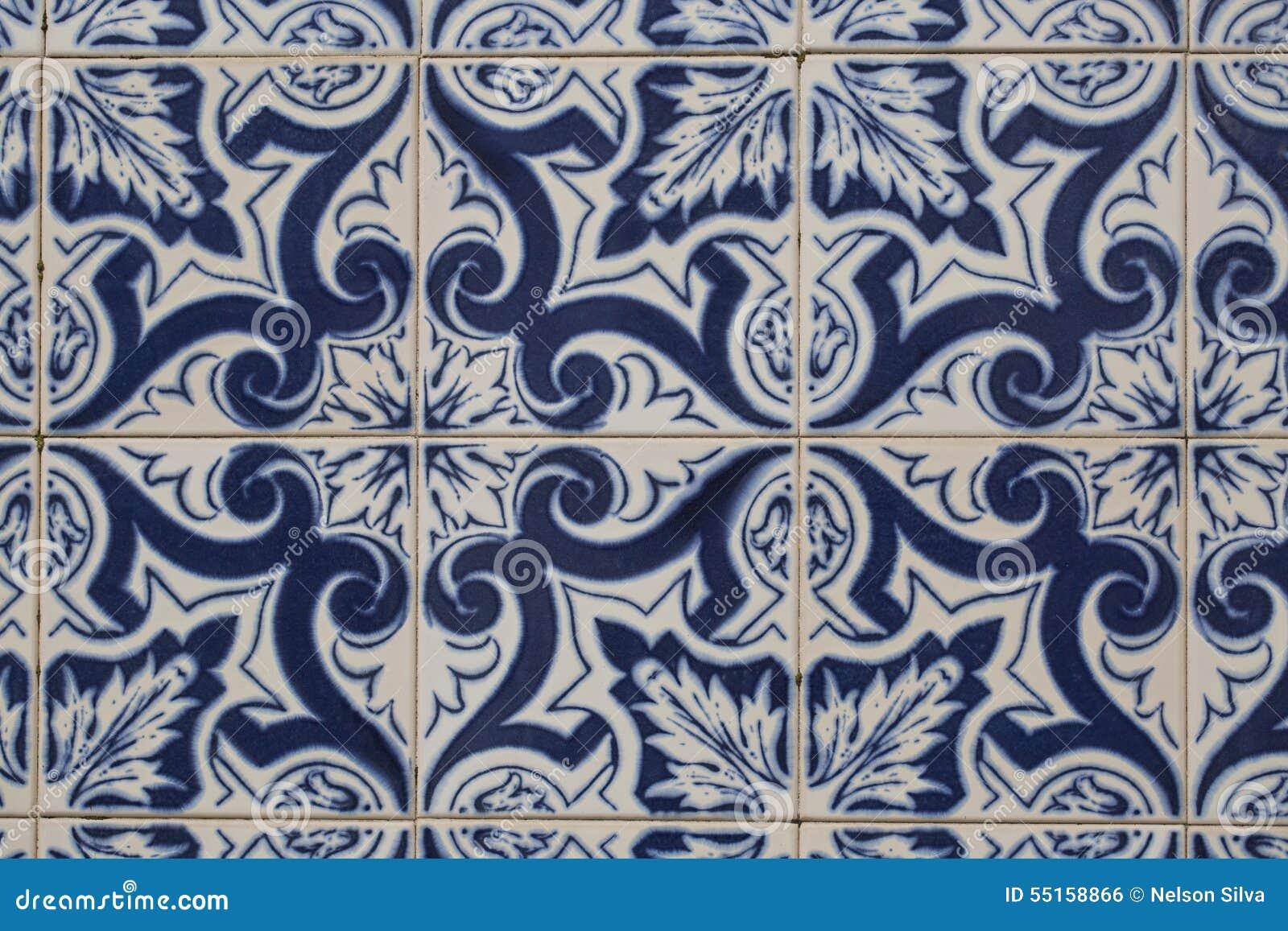 Vintage Ceramic Tile Stock Photo Image 55158866