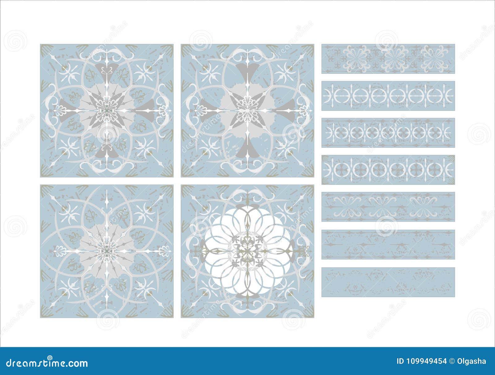 Vintage Ceramic Tile Pattern Stock Vector - Illustration of ...