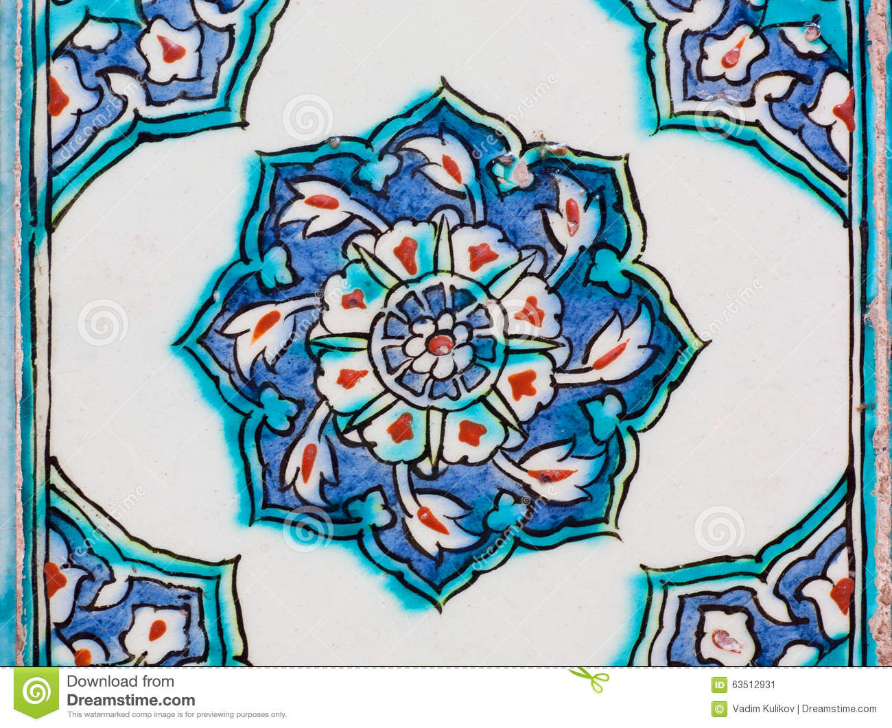 Vintage ceramic tiles with blue color design on wall of historical vintage ceramic tiles with blue color design on wall of historical topkapi palace istanbul dailygadgetfo Choice Image
