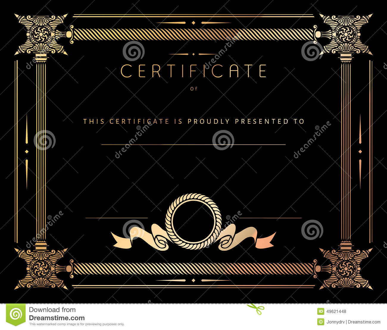 Vintage certificate template with detailed border in vector stock vintage certificate template with detailed border in vector royalty free vector yelopaper Gallery