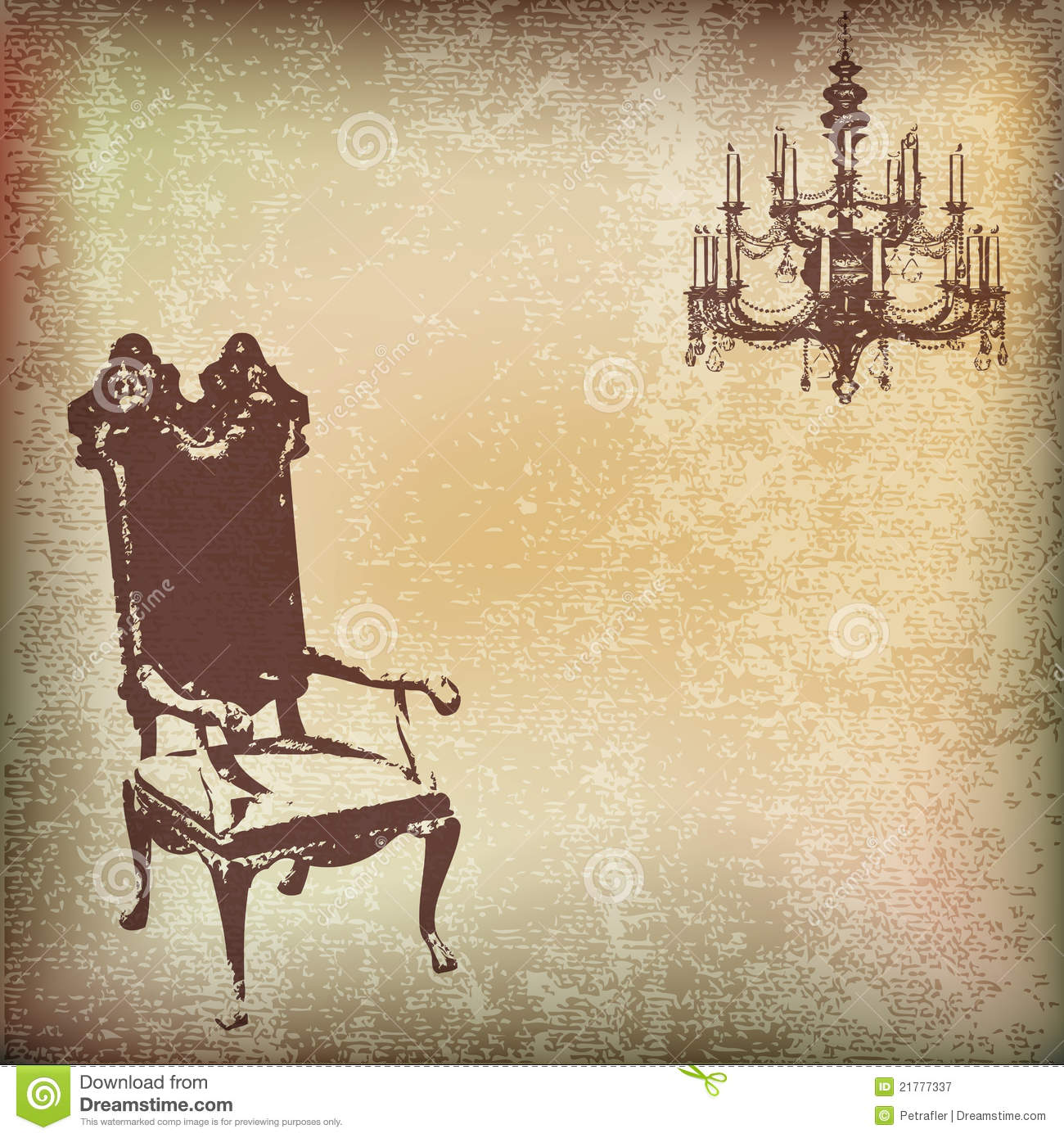 Vintage Chair Background Stock Vector Image Of Message