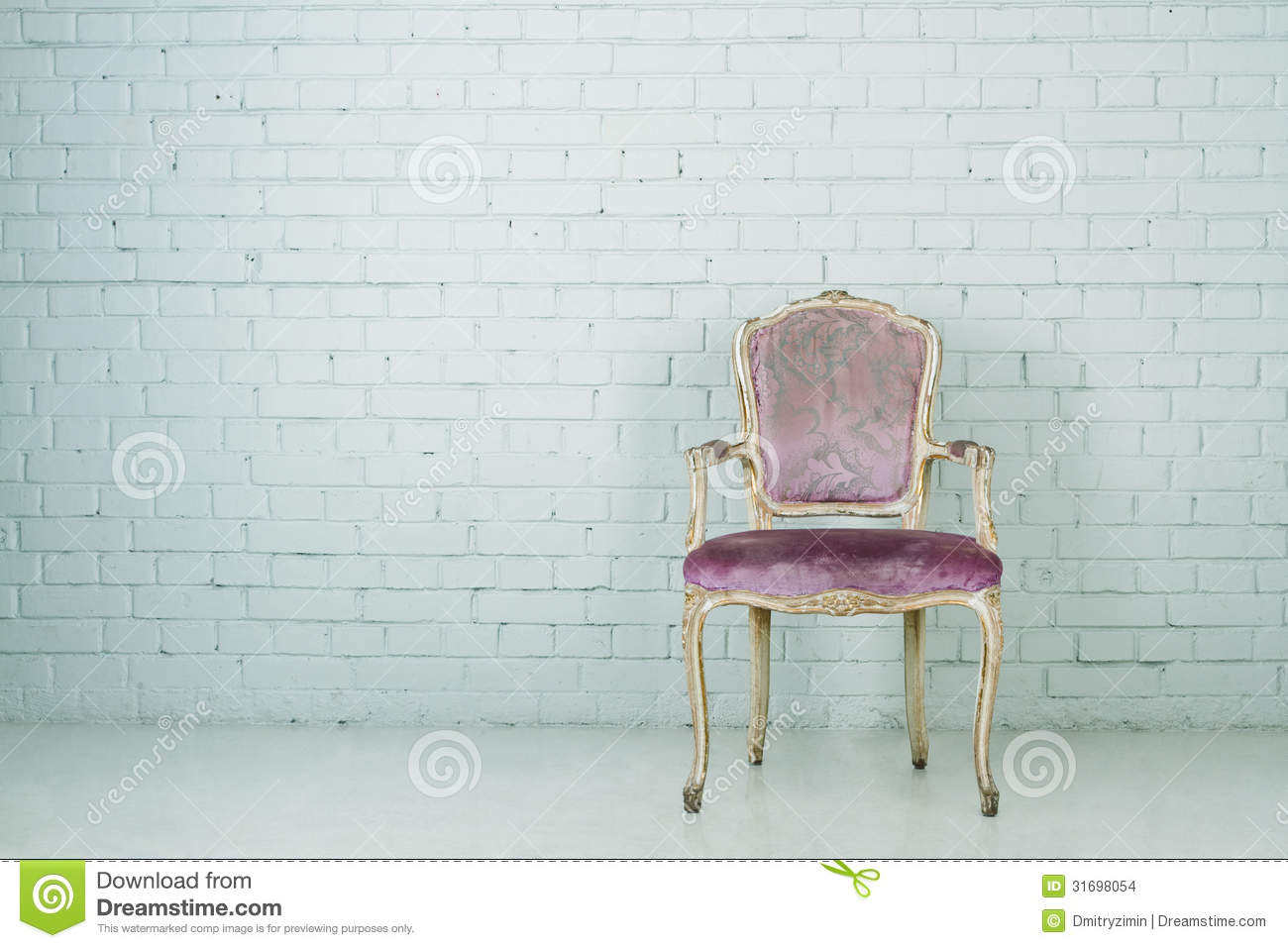 Empty chair in room - Vintage Chair In Empty Room Stock Images