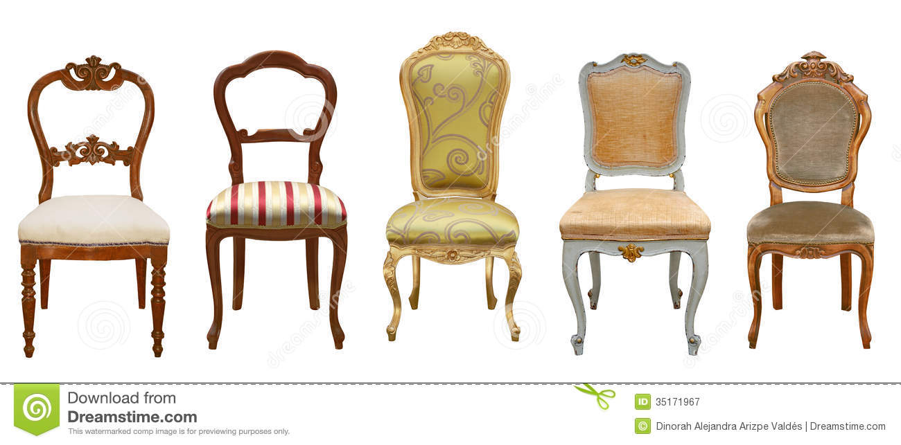 Vintage Chairs Isolated Royalty Free Stock Photography - Image: 35171967