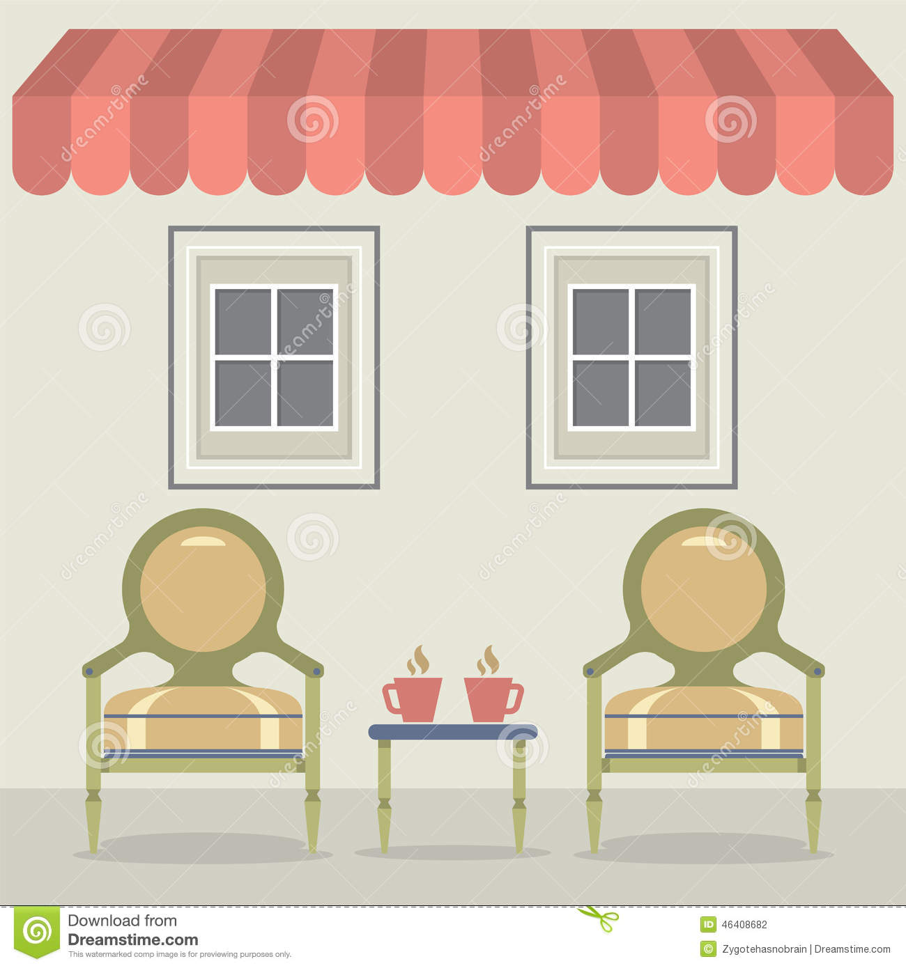 Awning Set Cartoon Vector Cartoondealer Com 31723121