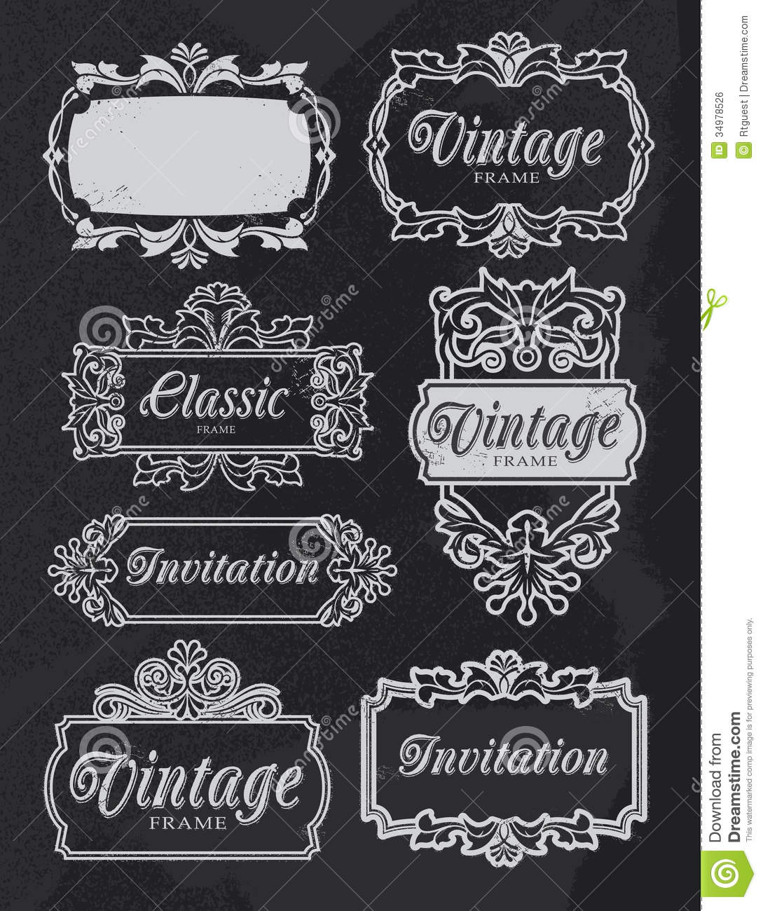 Home Design Ideas Blackboard: Vintage Chalkboard Banner Frames Stock Vector
