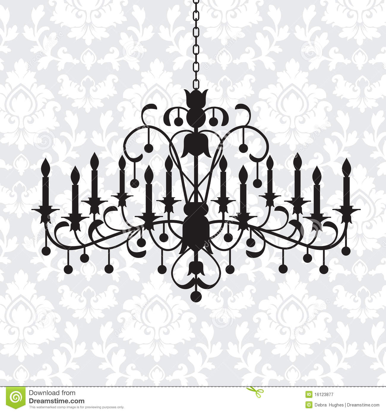 Vintage chandelier stock vector illustration of crystal 16123877 vintage chandelier aloadofball Images