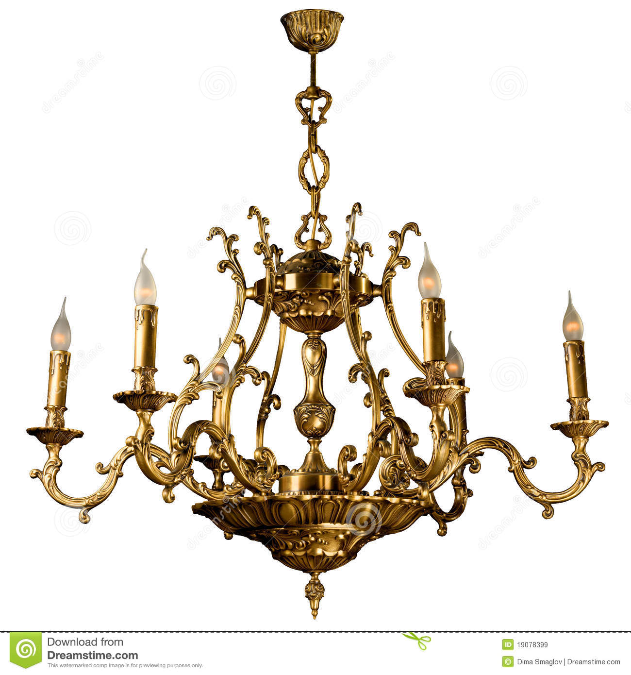 Vintage Chandelier Stock Illustration Image Of Candle