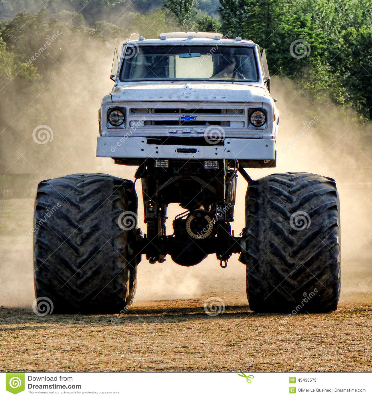 Vintage Chevrolet Monster Truck Racing In Dust Editorial Stock Photo Image Of Monster Pickup 43438573