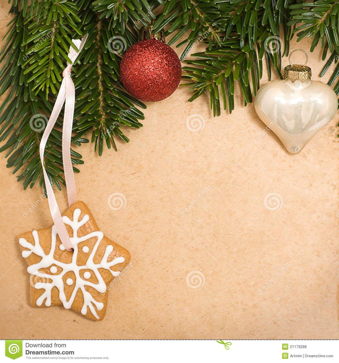 Vintage Christmas Background Stock Photo Image 21179288